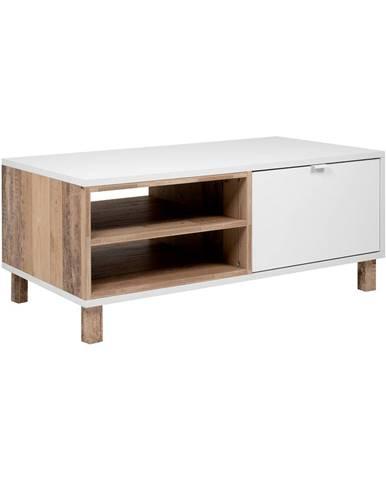 Konferenčný stolík MENORCA 55A svetlý antik/biela