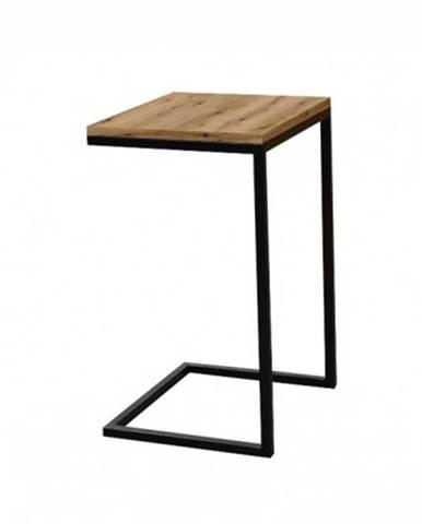 Prístavný stolík ST202008 dub / čierny
