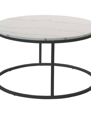 Mramorový konferenčný stolík s čiernou konštrukciou RGE Accent, ⌀85cm