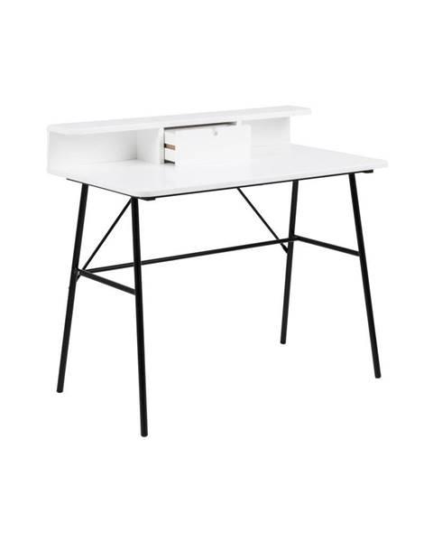 Actona Biely drevený pracovný stôl Actona Pascal