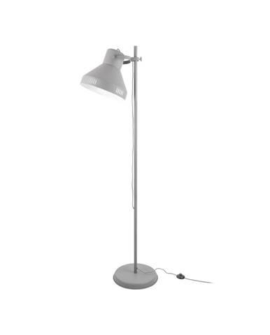Sivá stojacia lampa Leitmotiv Tuned Iron, výška 180 cm