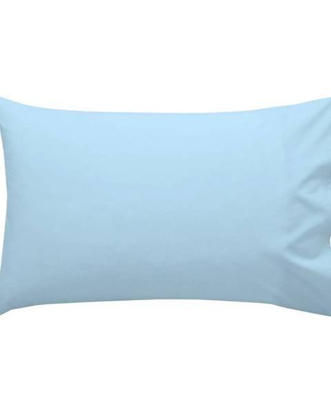 Happy Friday Basic Modrá bavlnená obliečka na vankúš , 50 × 30 cm