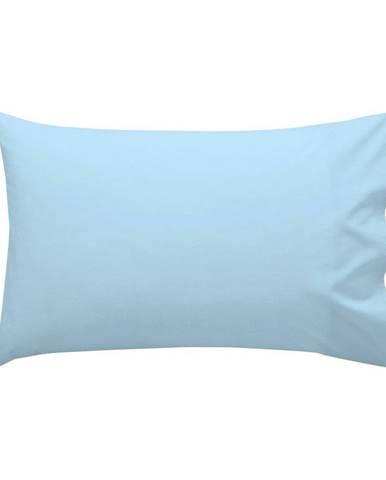 Modrá bavlnená obliečka na vankúš , 50 × 30 cm