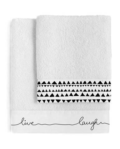 Súprava 2 bavlnených uterákov Blanc Live
