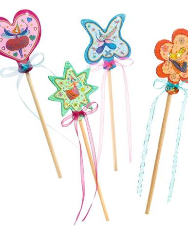 Set na výrobu 4 kúzelných paličiek Djeco Fairy