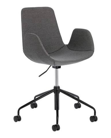 Sivá kancelárska stolička La Forma Yasmin