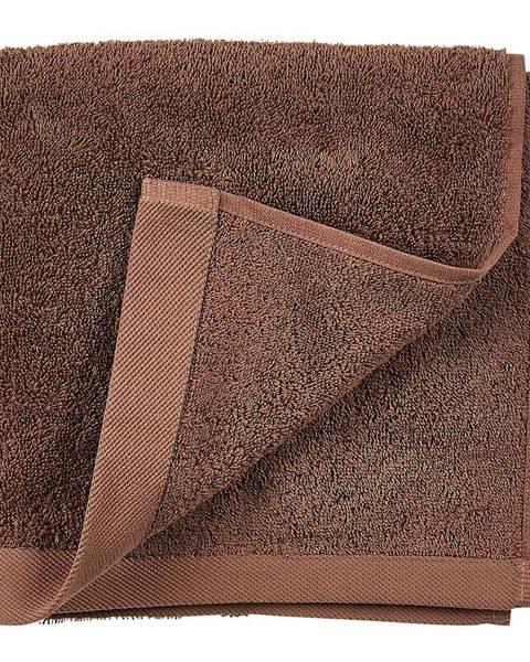 Södahl Červenohnedý uterák z froté bavlny Södahl Wood, 100 x 50 cm