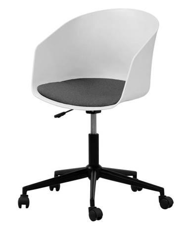 Biela kancelárska stolička na kolieskach Interstil MOON