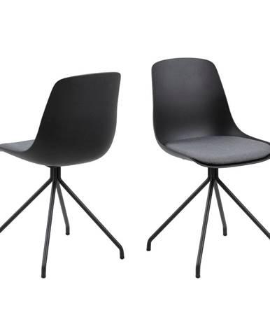 Čierna jedálenská stolička Actona Eva