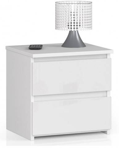 ArtAko Nočný stolík Clips CL2 2SZ biela