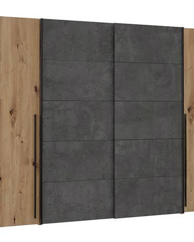 Skriňa Narago 270 cm Dub Artisan/Betón