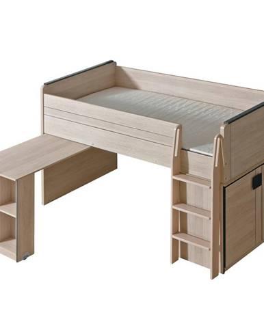 Posteľ z Písací stôl  Gumi G15 Dub Santana/Sivá