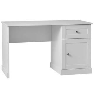 Písací stôl Marie 1S1D  Biały