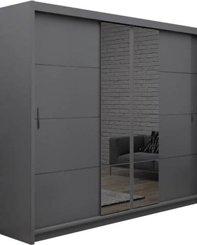 Skriňa Porto 250 grafit/zrkadlo