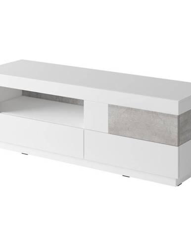 TV stolík Silke 41 biely betón colorado/biela lesklá
