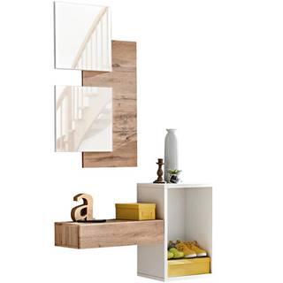 Predsieňový nábytok Easy I wotan/biely
