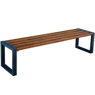 Moderná lavica bez operadla orech