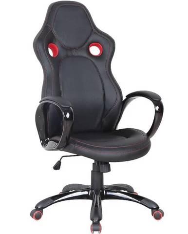 Kancelárska stolička CX0996H čierno/červená