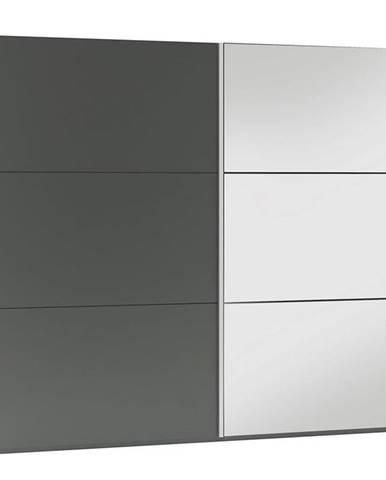 Skriňa Vigo 225 grafit/zrkadlo