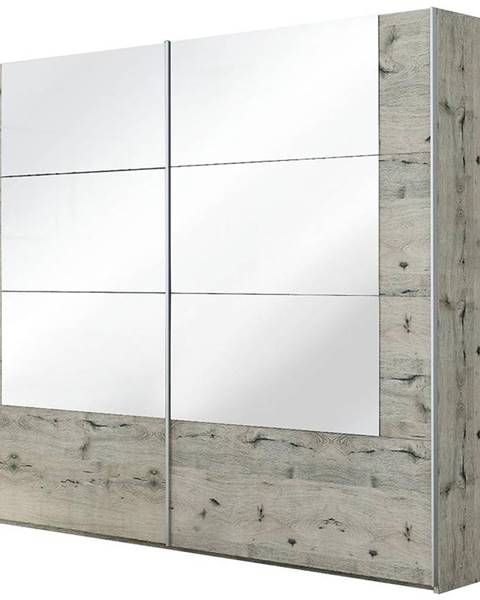MERKURY MARKET Skriňa Talin 250 dub wellington/zrkadlo