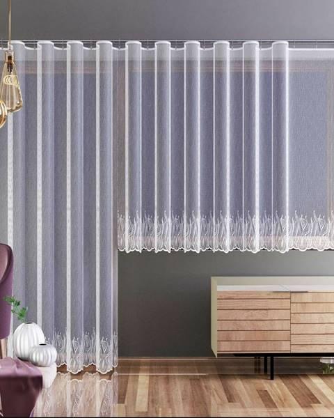 Plastia Forbyt Záclona Nela biela, 250 x 120 cm
