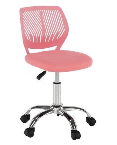 Otočná stolička ružová/chróm SELVA