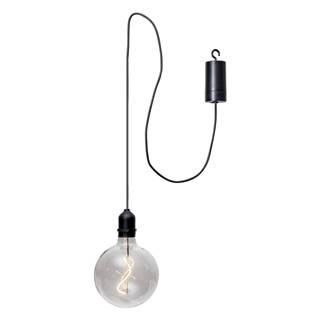 Transparentná vonkajšia svetelná LED dekorácia Best Season Glassball, dĺžka 1 m