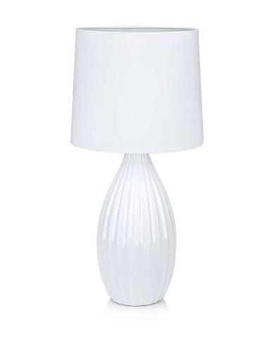 Biela stolová lampa Markslöjd Stephanie