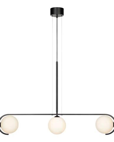 Čierne závesné svietidlo Markslöjd Pals Pendant Black White