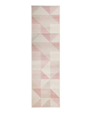 Ružový koberec Flair Rugs Urban Triangle, 60 x 220 cm