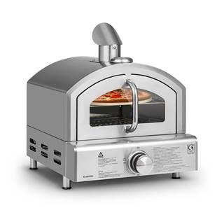 Klarstein Pizzaiolo Neo, plynová pec na pizzu, vrátane kameňa na pizzu, termometer, nerezová oceľ