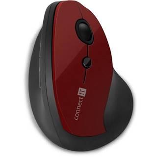 Myš  Connect IT vertikální, ergonomická červená