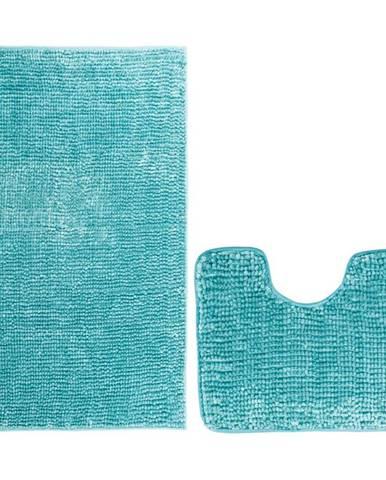 AmeliaHome Sada kúpeľnových predložiek Bati modrá, 2 ks 50 x 80 cm, 40 x 50 cm
