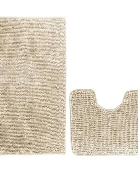 Mäser AmeliaHome Sada kúpeľnových predložiek Bati béžová, 2 ks 50 x 80 cm, 40 x 50 cm