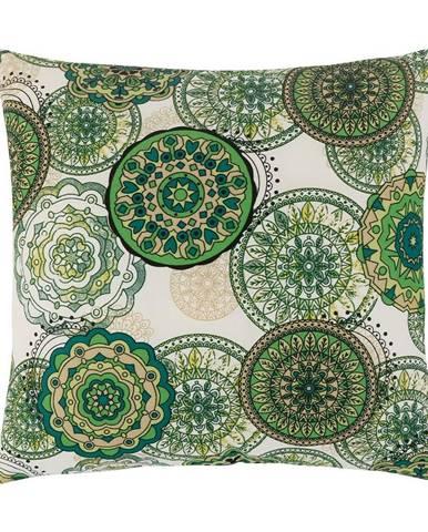 Bellatex Vankúšik Adela Mandala zelená, 40 x 40 cm