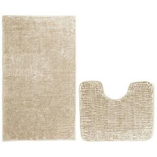 AmeliaHome Sada kúpeľnových predložiek Bati béžová, 2 ks 50 x 80 cm, 40 x 50 cm