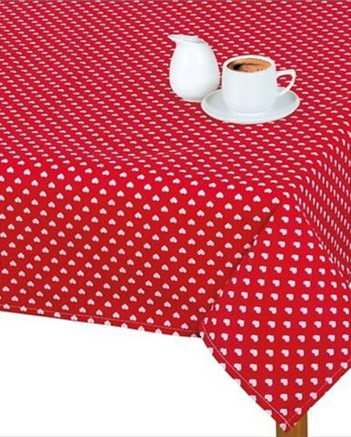 Bellatex Obrus Adela Srdiečka červená, 120 x 140 cm