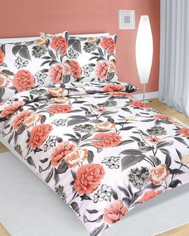 Bellatex Bavlnené obliečky Pivonka , 140 x 220 cm, 70 x 90 cm