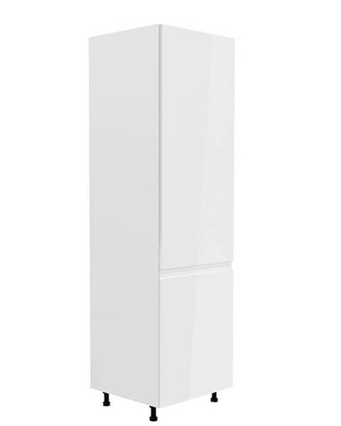 Kondela Potravinová skrinka biela/biela extra vysoký lesk pravá AURORA D60R