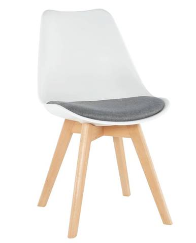 Stolička biela/sivá DAMARA