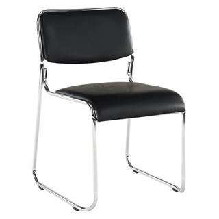 Zasadacia stolička čierna ekokoža BULUT rozbalený tovar