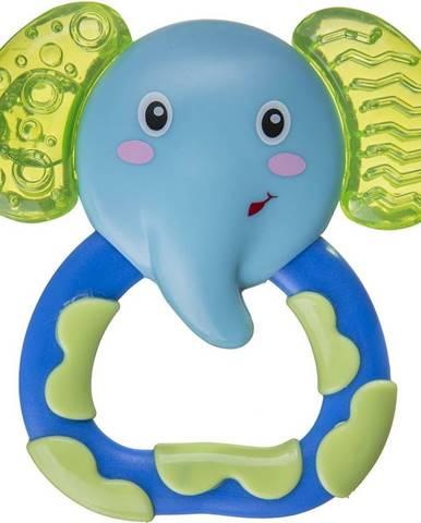 Akuku chladiace hryzátko slon modro zelená