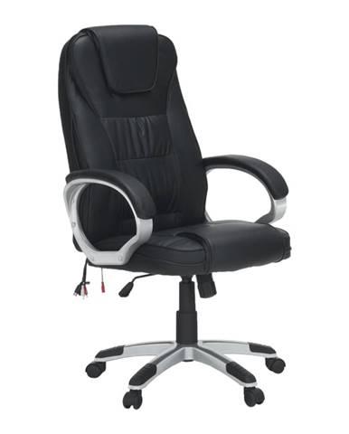 Kancelárske kreslo s funkciou masáže čierna TYLER UT-C2652M