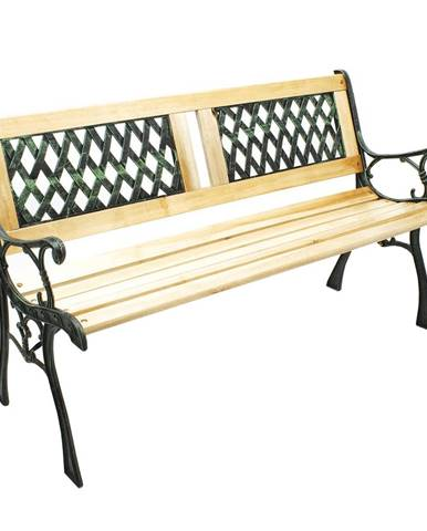 Záhradná lavička čierna/prírodná JADARA