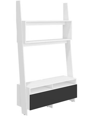 TV stolík Rack biely/čierny
