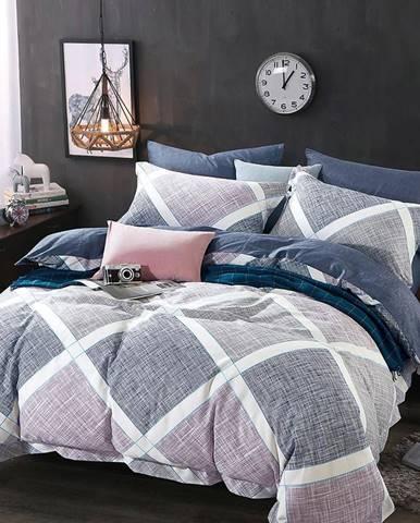 Bavlnená saténová posteľná bielizeň ALBS-0853 160X200