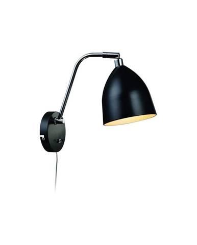 Čierne nástenné svietidlo Markslöjd Fredrikshamn