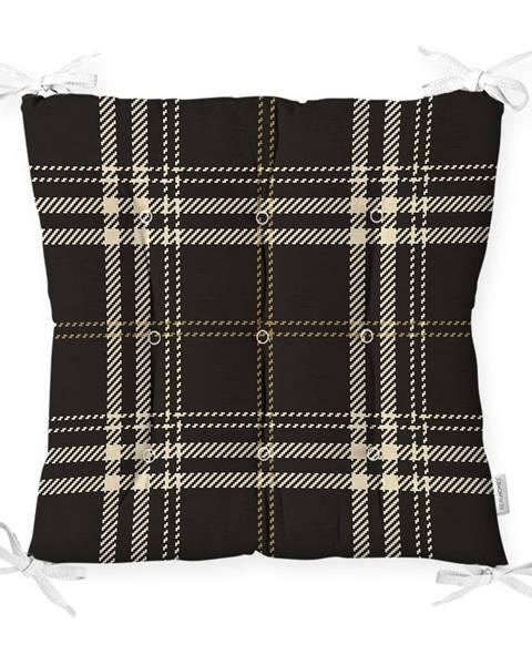 Minimalist Cushion Covers Sedák na stoličku Minimalist Cushion Covers Flannel Black, 40 x 40 cm
