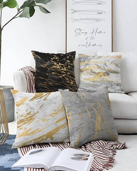 Minimalist Cushion Covers Súprava 4 obliečok na vankúše Minimalist Cushion Covers Artsy, 55 x 55 cm