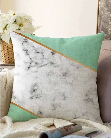 Obliečka na vankúš s prímesou bavlny Minimalist Cushion Covers Light Marble, 55 x 55 cm